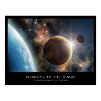 Willkommen zum Raum Postkarte