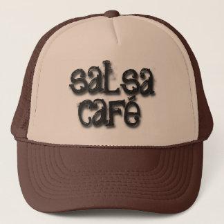 Willkommen zum Salsa-Café Truckerkappe