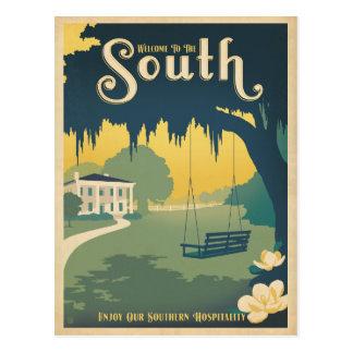 Willkommen zum Süden Postkarte