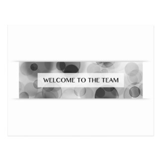 Willkommen zum Team (bokeh) Postkarte