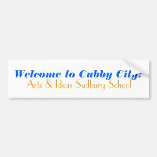 Willkommen zur Cubby-Stadt! , Künste u. Ideen Autoaufkleber