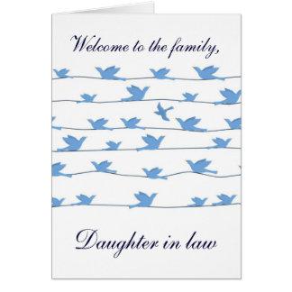 Willkommen zur Familie Schwiegertochter Karte