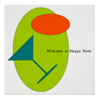 Willkommen zur glücklichen Stunde Poster