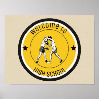 Willkommen zur Highschool Poster