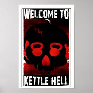 Willkommen zur Kessel-Hölle - Kettlebell Schädel-P Poster