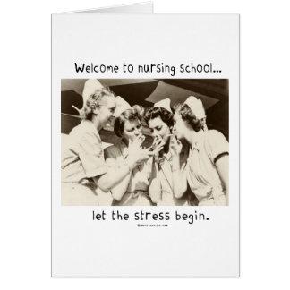 Willkommen zur Krankenpflege-Schule - lassen Sie d Karten