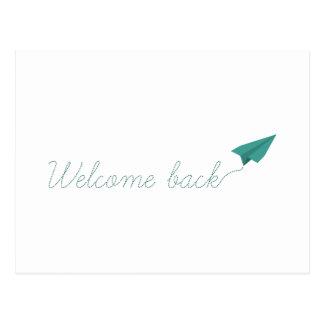 Willkommen zurück postkarte