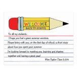 Willkommen zurück zu Schulbleistift-Postkarte