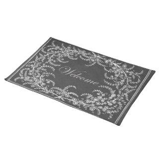 Willkommene Blumen-und Blatt-Tafel Tischset
