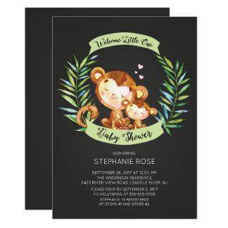 Willkommene kleine Affe-Babyparty-Einladung Karte