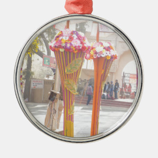 Willkommene Tore Neu-Delhi 2016 Indien-Reisen Rundes Silberfarbenes Ornament