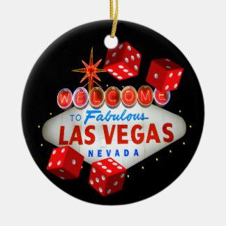 Willkommene Würfel-Las Vegas-Verzierung Keramik Ornament