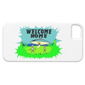 Willkommene Zuhause-Außerirdische iPhone 5 Etui