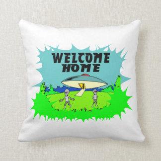 Willkommene Zuhause-Außerirdische Kissen