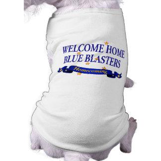 Willkommene Zuhause-Blau-Bläser Top