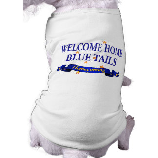 Willkommene Zuhause-Blau-Schwänze Top
