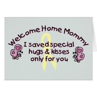 Willkommene Zuhause-Mama Grußkarte