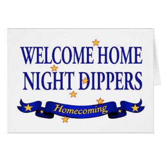 Willkommene Zuhause-Nachtschöpflöffel Grußkarte
