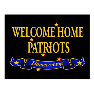 Willkommene Zuhause-Patrioten Postkarten