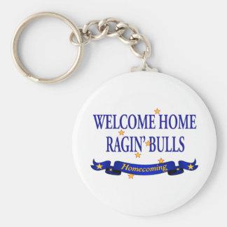 Willkommene Zuhause Ragin Stiere Schlüsselanhänger