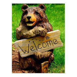 Willkommener Bärn-bewegliche Mitteilungen Postkarten