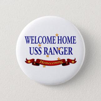 Willkommener Förster des Zuhause-USS Runder Button 5,7 Cm