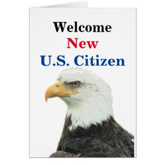 Willkommener neuer US-Bürger Grußkarte