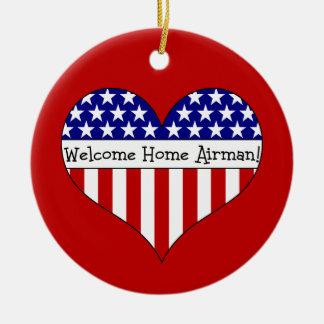 Willkommener Zuhause-Flieger! Weihnachtsbaum Ornamente