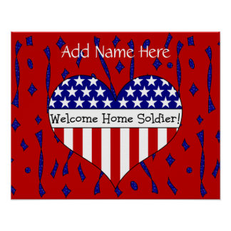 Willkommener Zuhause-Soldat! (Kundengerechter Name Plakate