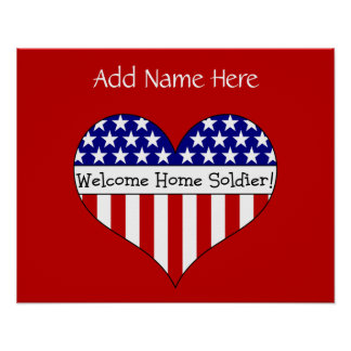 Willkommener Zuhause-Soldat! (Kundengerechter Name Poster