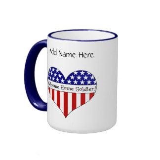 Willkommener Zuhause-Soldat! Ringer Tasse