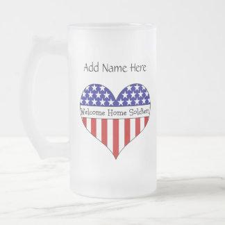 Willkommener Zuhause-Soldat! Teetassen