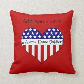 Willkommener Zuhause-Soldat! Zierkissen