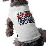 Willkommener Zuhause-Vati Ärmelfreies Hunde-Shirt