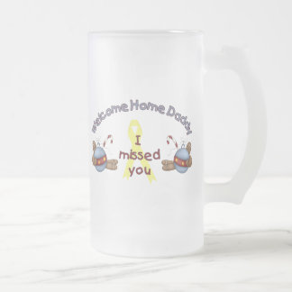 Willkommener Zuhause-Vati (ich verfehlte Sie) Matte Glastasse