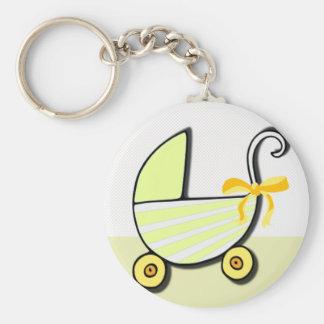 Willkommenes Baby oder Babyparty Standard Runder Schlüsselanhänger