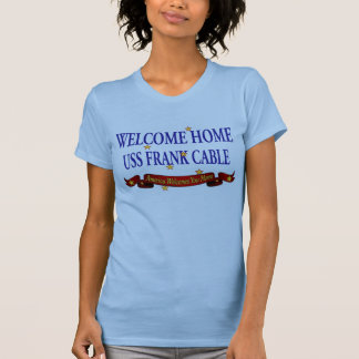Willkommenes Frank-Kabel des Zuhause-USS T-Shirt