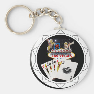 Willkommenes Zeichen-Schwarz-Poker-Chip Schlüsselanhänger