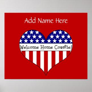 Willkommenes Zuhause Coastie! (Kundengerechter Nam Poster