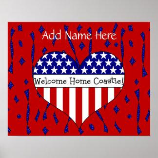 Willkommenes Zuhause Coastie! (Kundengerechter Nam Plakatdruck