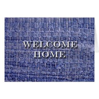 Willkommenes Zuhause, Denim-blaue Karte