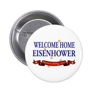 Willkommenes Zuhause Eisenhower Runder Button 5,1 Cm