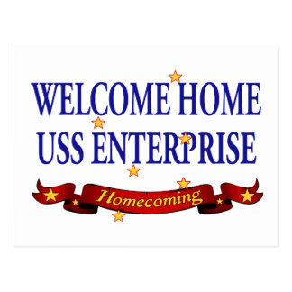 Willkommenes Zuhause USS Enterprise Postkarten