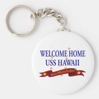 Willkommenes Zuhause USS Hawaii Schlüsselanhänger