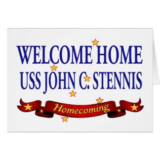Willkommenes Zuhause USS John C. Stennis Karte