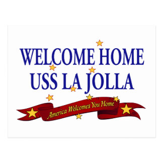 Willkommenes Zuhause USS La Jolla Postkarte