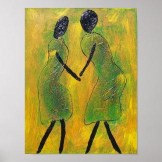 Willkommens-zurück - afrikanischer Kunst-Druck Poster