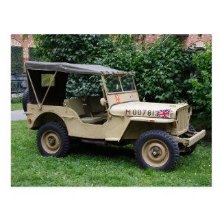 Willys Jeep Postkarte
