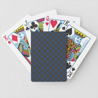 Wilson-Clan-Tartan entworfener Druck Bicycle Spielkarten