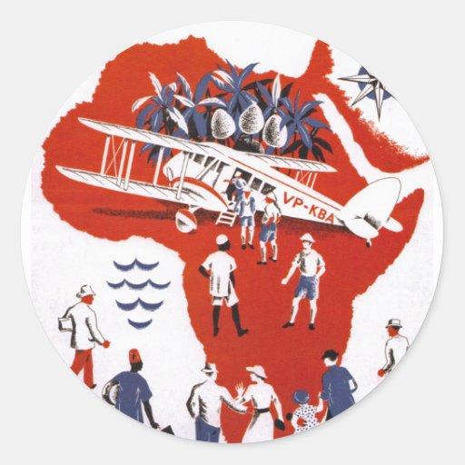Wilson-Fluglinien ~ Afrika Aufkleber